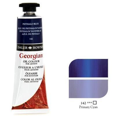Daler & Rowney Georgian Oil 38ml - Phthalo Blue 142, olejová barva - 1