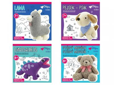 Kreativní set - Lama, Pejsek, Dinosaurus nebo Medvídek - 1