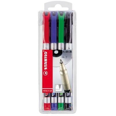 Stabilo Write-4-all, Permanent fix  0,7 mm - sada  4 ks - 1