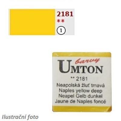 Akvarelová barva 2,6ml - Neapolská žluť tmavá/ 1 - 1