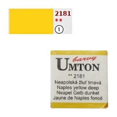 Akvarelová barva 2,6ml - Neapolská žluť tmavá - 1