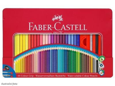 Faber-Castell Pastelky Colour Grip 2001 v plechové krabičce - 48ks - 1