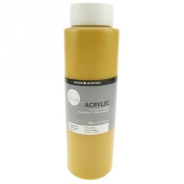 Daler & Rowney Simply Acrylic 750 ml - yellow ochre - 1