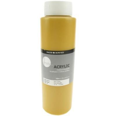 Daler & Rowney Simply Acrylic 750 ml - yellow ochre - 1