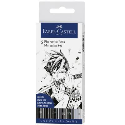 "Faber-Castell PITT Artist Pen ""Mangaka"" - sada 6ks"