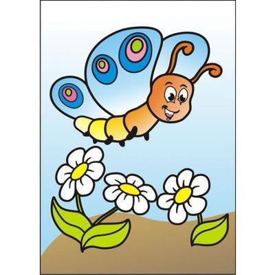 Obrázek pro pískování  23x33 cm - Motýlek