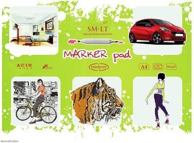 SMLT Blok Marker Pad A4, 100 g/m2, 25 listů
