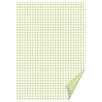 Happy Paper A4, 200 g/m2 - čtverečkovaný pistáciový