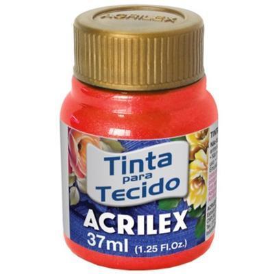 Acrilex Barva na textil 37ml - metalická ohnivě červená 507 - 1