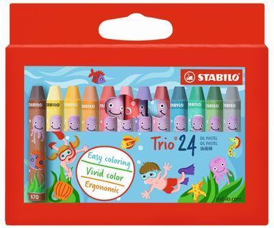 Stabilo Trio Oil Pastels - trojhranný olejový pastel, 24ks, cardboard - 1