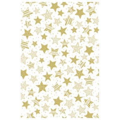 Transparentní papír A4, 115 g/m2 - hvězdy zlaté
