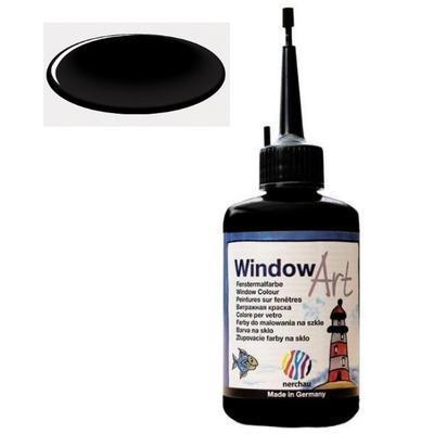 Barva na sklo Window Art  80 ml - černá