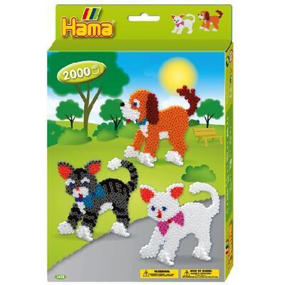 Hama Midi Dárková sada - Kočky a psi, 2000 ks - 1
