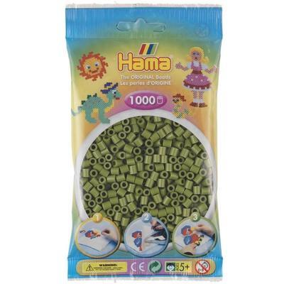 Hama MIDI Zažehlovací korálky 1000 ks - khaki