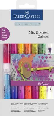 Pigmentové tyčinky Gelatos Bright - 15 ks + příslušenství