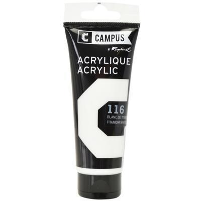 Akrylová barva Raphael 116 - Titanium white - Bílá 100 ml