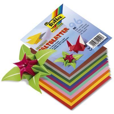 Papíry origami 13x13 cm - 96 listů, 12 sytých barev - 1