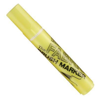 Marvy Popisovač na textil nezažehlovací - Fluorescent Yellow - 1