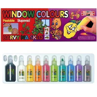 Koh-I-Noor Barvy na sklo slupovací - 9x22 ml + 1x40 ml