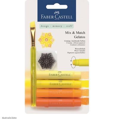 Pigmentové tyčinky GELATOS 4 ks + štětec - odstíny žluté