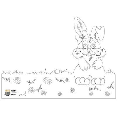 Výřez - Zajíc, obal na květináč, 1 ks - 1