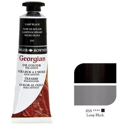 Daler & Rowney Georgian Oil 38ml - Lamp Black 035, olejová barva - 1