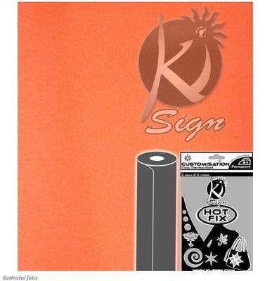 Nažehlovací fólie HOT FIX 15x20 cm glitrová - oranžová fluo