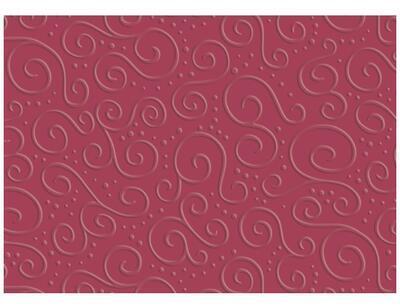 Karton s reliéfem Milano A4, 220 g/m2 - červený