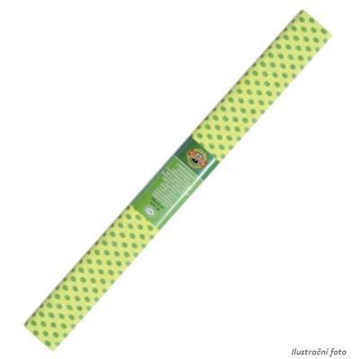 Koh-i-noor Krepový papír 9755/58 - tečkovaný žluto zelený