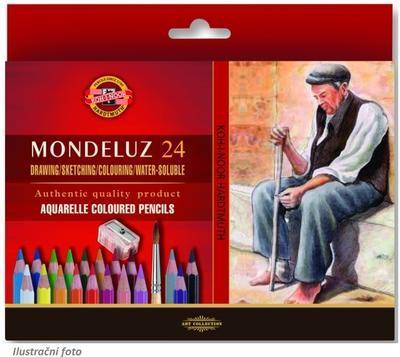 Mondeluz Akvarelové pastelky - 24 ks