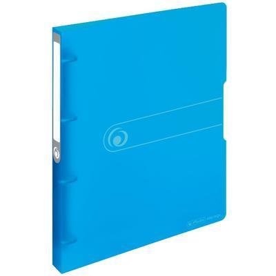 Pořadač A4/3 - 4 kroužky, transparentní modrý - 1
