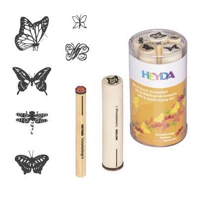 HEYDA Sada razítek 6 ks - Motýli