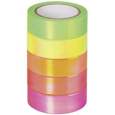 Papírová lepicí páska - neon, duhová - 1