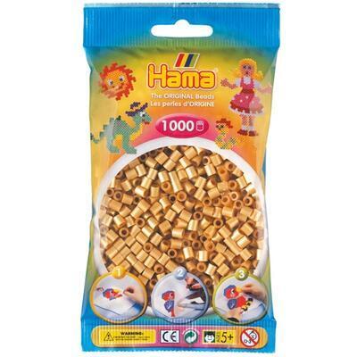 Hama MIDI Zažehlovací korálky 1000 ks - zlaté