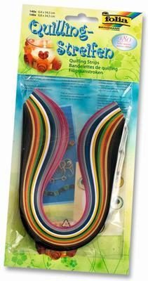 Proužky papírové pro Quilling - mix barev, 280ks - 1