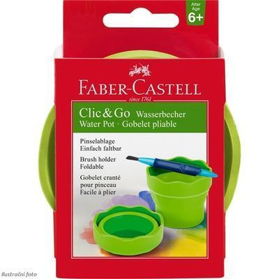 Faber-Castell  Clic&Go Kelímek na vodu - zelený - 1