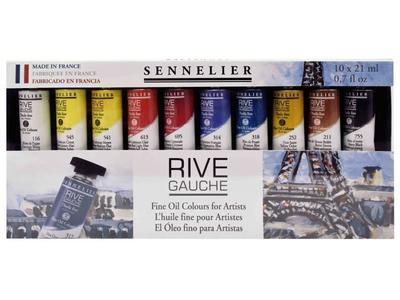 Sennelier sada olejových barev RIVE GAUCHE - 10x21ml