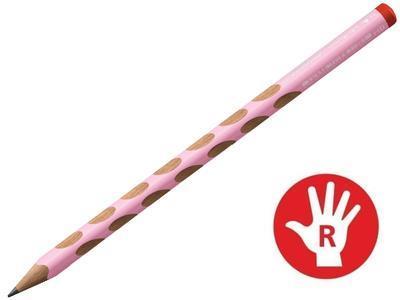 STABILO EASYgraph Pastel HB - pastelová růžová pro praváka - 1
