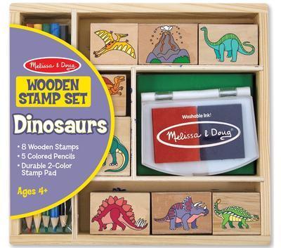 Dřevěná razítka v krabičce - Dino - 1