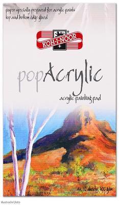 Blok popAcrylic A4, 400 g/m2, 10 listů