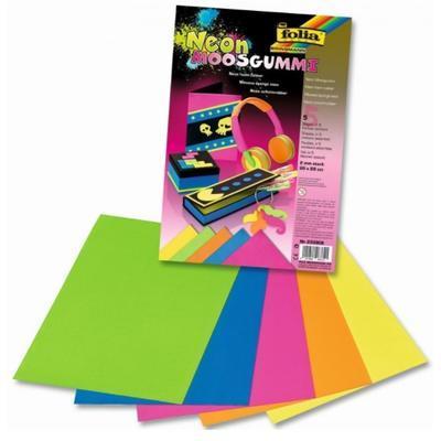 Pěnovka neonové barvy 20x29 cm - 5 ks