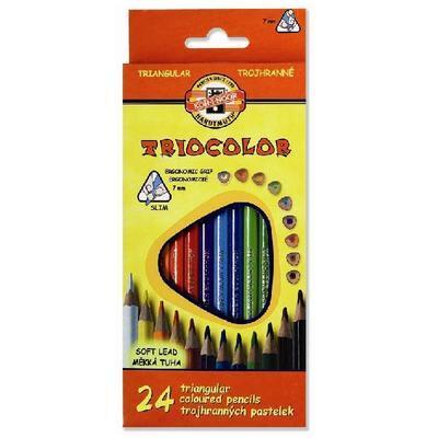 Trojhranné pastelky Triocolor tenké - 24 ks - 1