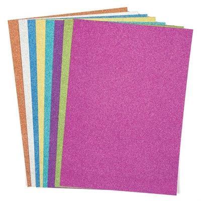 Papír třpytivý A4, 250 g/m2, 16 ks - 8 barev - 1