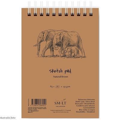SMLT Blok Sketch Natural Brown A5, 135 g/m2, 80 listů