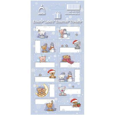 Vánoční etikety na dárky - medvídci