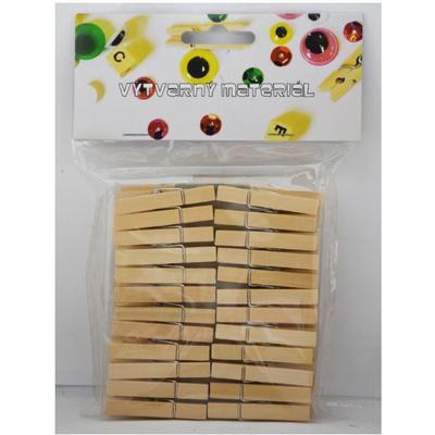 Dřevěné kolíčky - přírodní /70mm/ 48ks