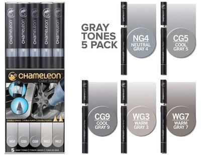 Chameleon Color Tones - 5 ks, Grey Tones - 1