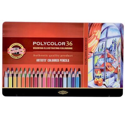 Polycolor Sada pastelek - 36 ks v plechu - 1