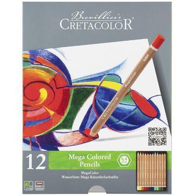Sada permanentních barevných mega pastelek 12ks - 1