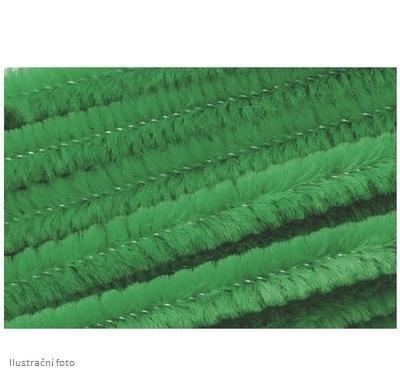 Žinilkový drát průměr 8mm, délka 50cm, 10ks - zelený